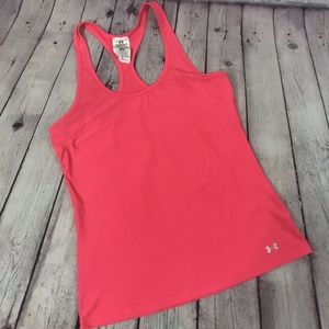 Under Armour Heat Gear Racerback Pink Tank Top M